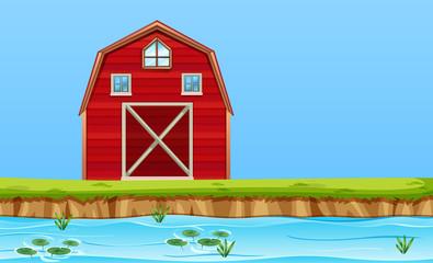 A rural barn house