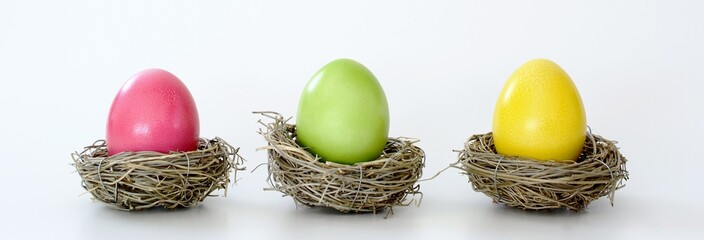Easter eggs color colorfull basket