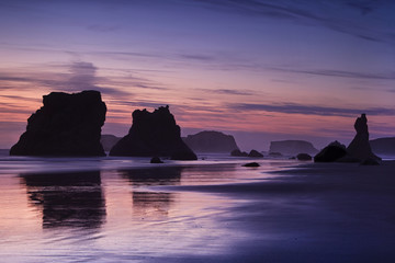 Evening light over Bandon Beach