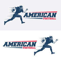 american football player logo vector silhouette