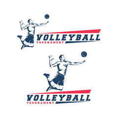 volleyball player logo