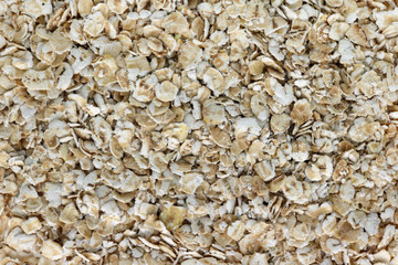 Oatmeal in instant flakes food background.