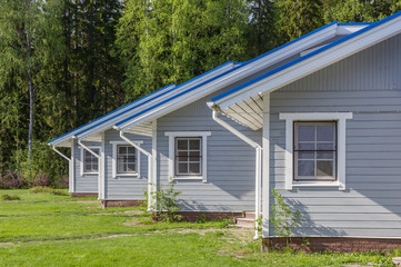 Summer houses  in the sunlight