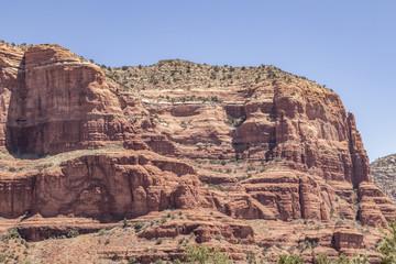 Close up of mountains in Sedona, Arizona