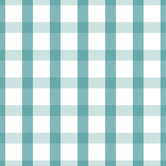 Seamless plaid, check pattern blue and white. Design for wallpaper, fabric, textile, paper. Simple background