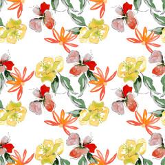 Summer blossom, seamless pattern, background