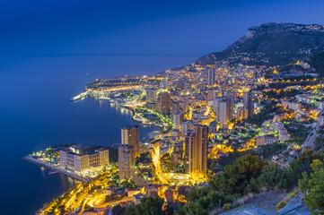 Monte Carlo city at night. Monaco