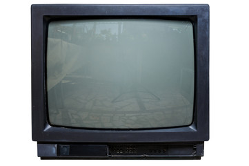 The old TV on the isolated
