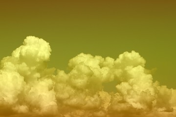lovely bright cumulus clouds for using in design as background.