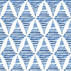 Seamless shibori pattern, tie-dye ornament. Blue watercolor rhombus on a white background. Handmade. Vintage print for textiles.