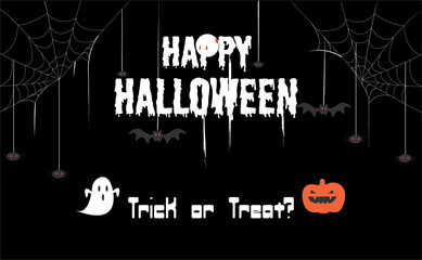 Stylish Halloween Background,bannner with icon sets