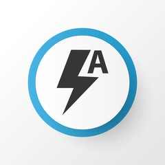 Automatic icon symbol. Premium quality isolated thunder element in trendy style.