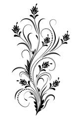 Wall Mural - Decorative floral ornament in retro style