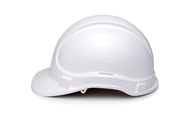 Side View of White Hardhat
