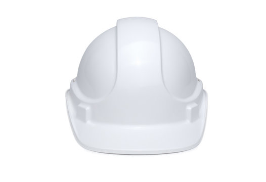 White Hardhat Front View