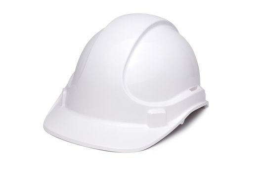 White Hardhat 3/4  to Camera