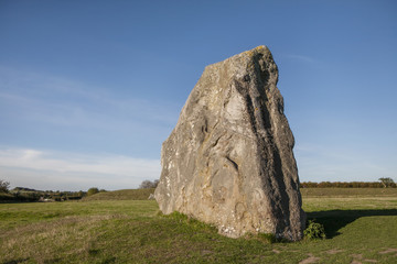 Avebury standing stone at Avebury, Wiltshire