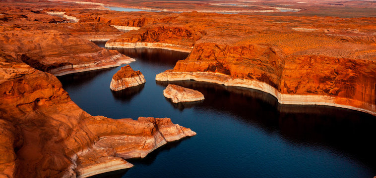 Aerial view of Colorado river Page Arizona