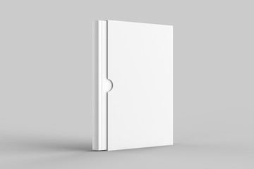 Slipcase book mock up isolated on soft gray background. 3D illustration