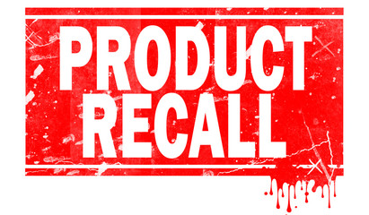 Product recall in red frame