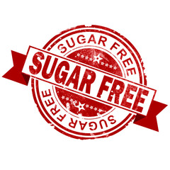 Sugar free red vintage stamp