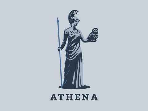 The goddess Athena.