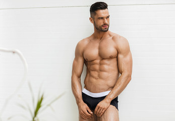 Sexy man in underwear