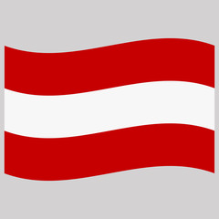 Wall Murals United States flag austria on gray background vector illustration flat