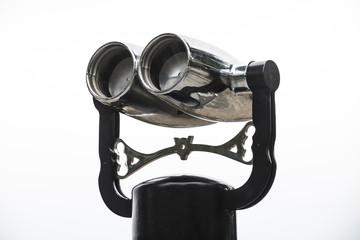 Tourist Binoculars isolated on white background.