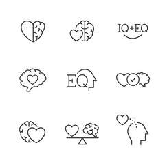 Emotional Intelligence EQ icons