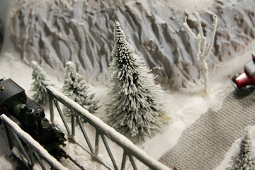 Modelleisenbahn Winter auf der Modelleisenbahn
