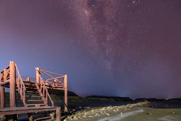 Milky way at Jan Kok Curacao Views - a small Caribbean Island