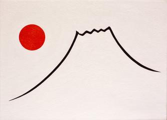 太陽と富士図