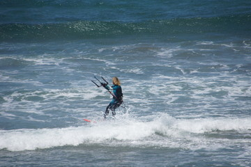 Kite surfer at th californian coast