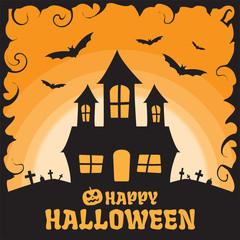 Happy halloween background - Vector