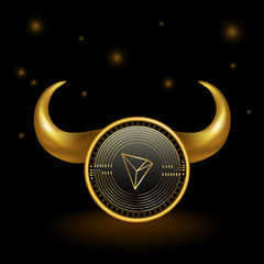 Tron Cryptocurrency Coin Bull Market Background