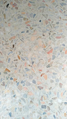Color mosaic on the floor, pastel colors