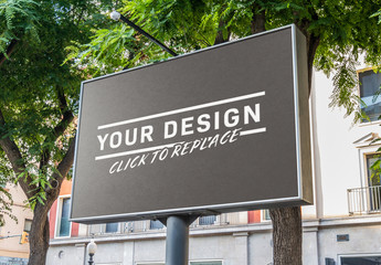 Outside Horizontal Billboard Mockup