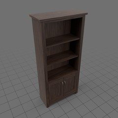 Tall wooden shelf unit