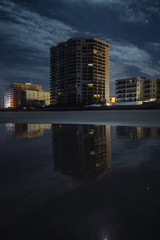 Building on the Beach Night