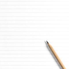 School book page pen Empty notebook paper