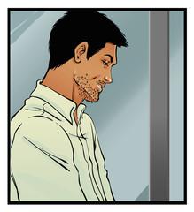 Comics art man