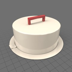 Portable cake container