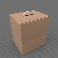 Box product with handle