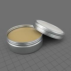 Open tip balm tin