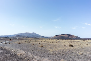 'El Cuervo' volcan, Lanzarote, Spain