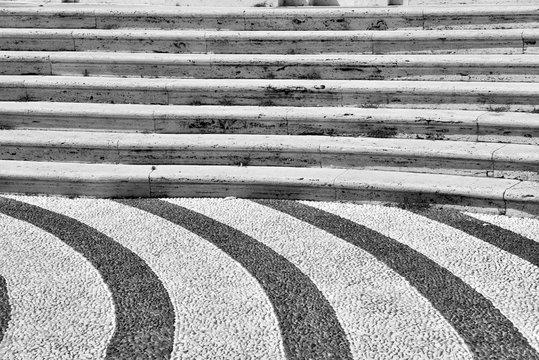 floor in front of the Church of Nostra signora della concordia Albissola marina Savona Italy