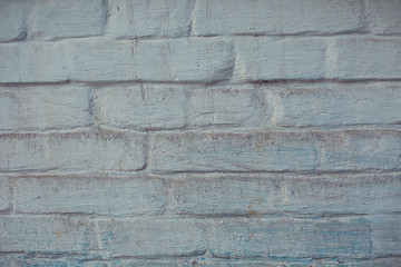background blue old dirty scuffed texture wall of blocks
