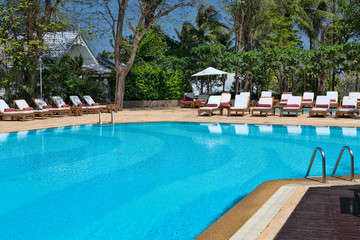 Swimming pool in the tropics