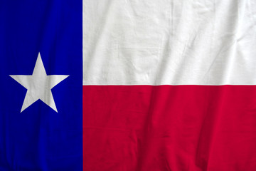 Flag of Texas, USA waving.